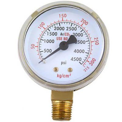 Manometro 0-4500psi - 0-315kg/cm² - 1/4 Gt- Oxigenio