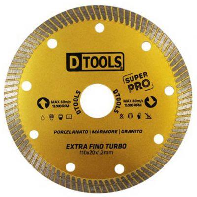 Disco Diamantado 110mm Porcelanato Extra Fino Turbo Dtools