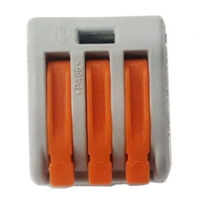Conector Emenda 3 Polos 4mm 221 32a Wago