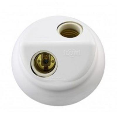 Plafonier Nylon Duplo E27 Branco Ilumi