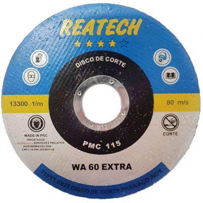 Disco Corte Aço/inox 115x1,0x22 Reatech