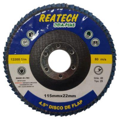 Flap Disc Fibra Curvo 41/2 40 Reatech
