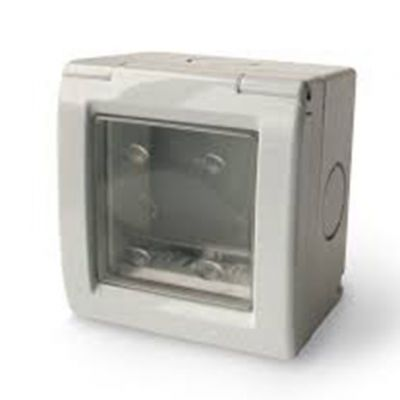 Caixa 2 Modulos Ip55 c/ Tampa e Membrana Transparente c/ uv Kalop