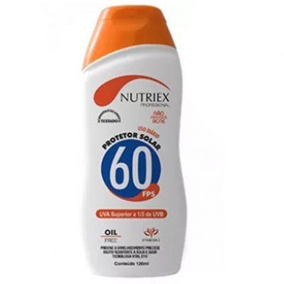 Protetor Solar Fps 60 1 3uva 120ml Nutriex