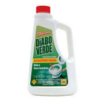 Desentupidor Diabo Verde Liquido p/ Vaso Sanitario/ralos 1lt