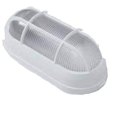 Luminaria Tarturaga Branca c/ Grade p Bet Plasticos