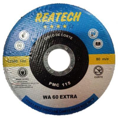 Disco Corte Aço/inox Azul 115x1,0x22 Reatech