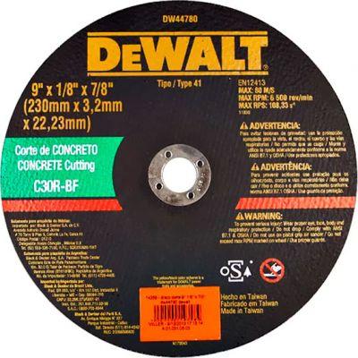 Disco Corte Concreto Dw44780 9x1/8x7/8 Dewalt