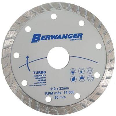 Disco Diamantado 110mm Turbo Furo 20/22mm Berwanger