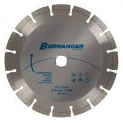 Disco Diamantado 110mm Segmentado Furo20/22mm Berwanger