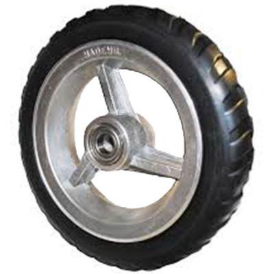 Roda Aluminio 4' p/ Rol c/ Pneu Semi Macico 2.00x4 Mademil