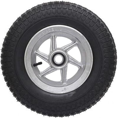 Roda Aluminio 4' p/ Rol c/ Pneu e Camara 3.50x4 Mademil