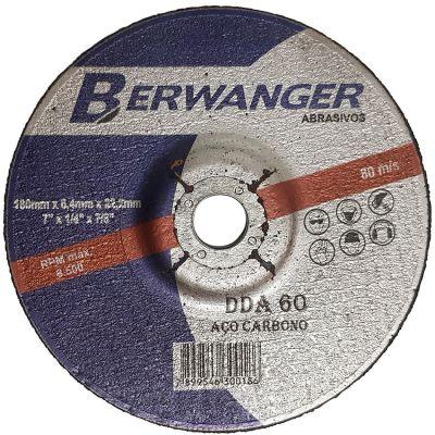Disco Desbaste Metal 7x1/4x7/8 Berwanger