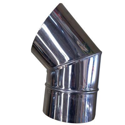 Curva Inox 45° p/ Fogão 13,0cm