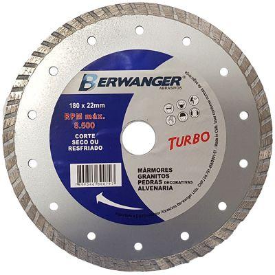 Disco Diamantado 180mm Turbo Pro Berwanger