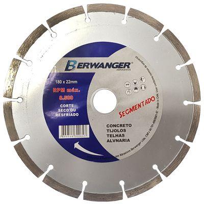Disco Diamantado 180mm Segmentado Pro Berwanger