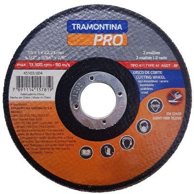 Disco Corte Aço/inox115x1,0x22,2 Tramontina Pro