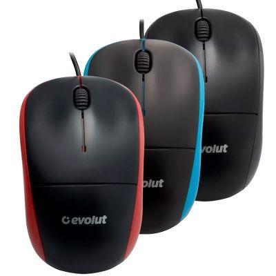Mouse Usb Optico Evolut Eo-102 Red 1000 Dpi /ms851
