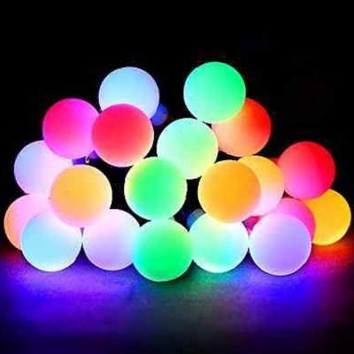 Conjunto de Luzes c/ 40 Bolinhas Led Rgb Coloridas Fio Verde 220v