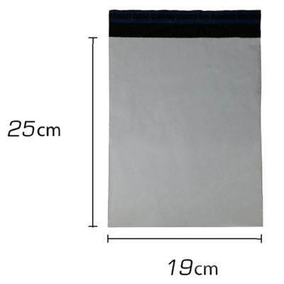 250 Envelope Plastico Cinza Com Lacre 19x25cm