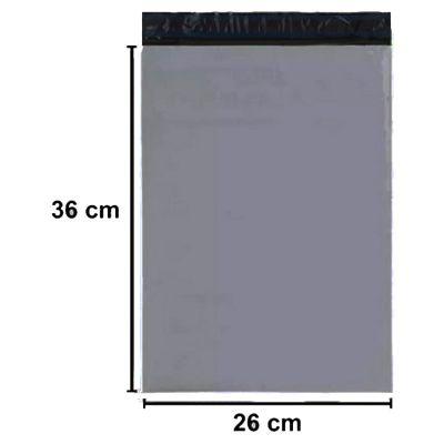 250 Envelope Plastico Cinza Com Lacre 26cm x 36cm