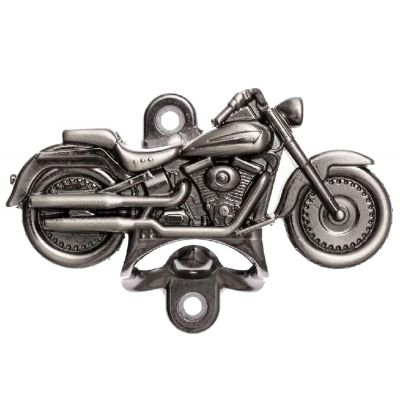 Abridor de Garrafa Moto Harley Prata Velho