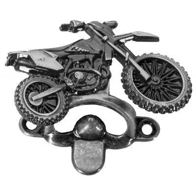 Abridor de Garrafa Moto Trilha Prata Velho