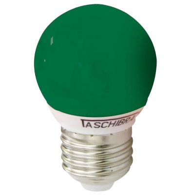 Lampada Led Bolinha Colors 1w Verde Taschibra