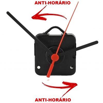 Maquina Relogio Parede Eixo 17 mm Anti Horario