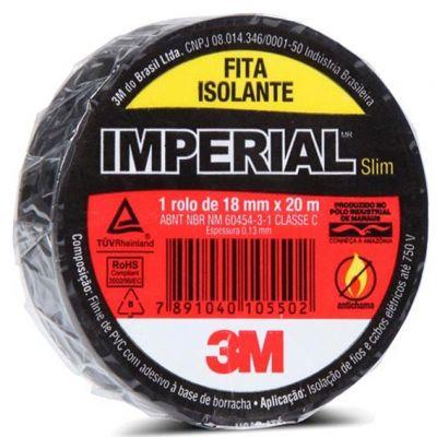 Fita Isolante 10m Preta Imperial Slim