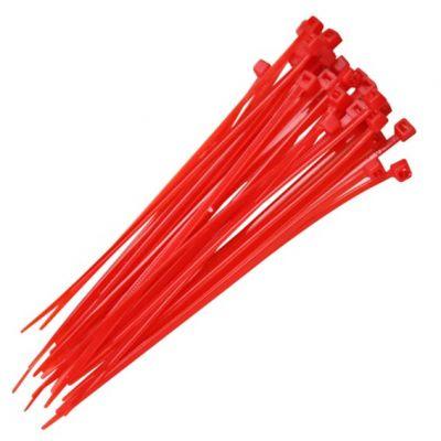 Abraçadeira Nylon Vermelha 151x3,70mm - 100pcs