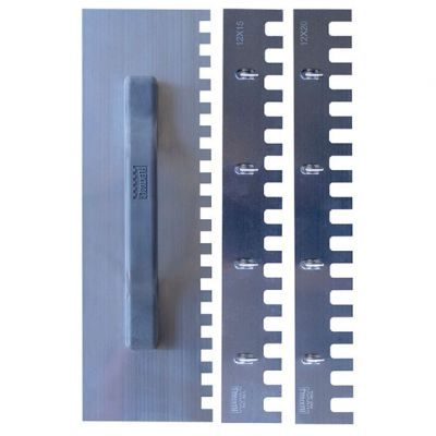 Desempenadeira Aço Dentada 26cm Dente 10x10 Flextools