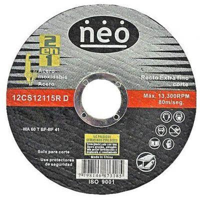 Disco Corte Aço/inox 115x1,2x22,2 Imp