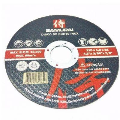Disco Corte Aço/inox 115x1,0x22,2 Samurai