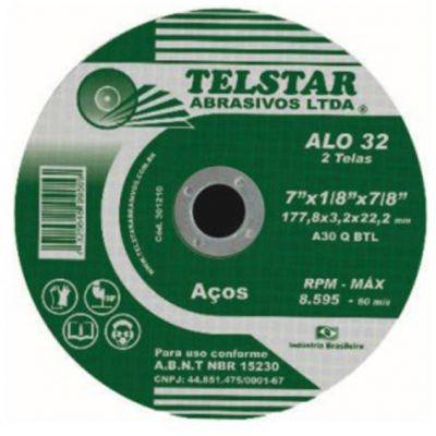 Disco Corte Aço/inox 41/2x1,0x7/8 Telstar