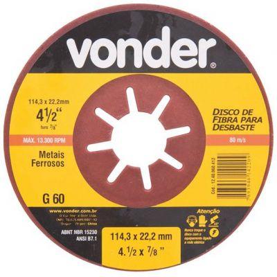 Disco Fibra p/ Desbaste 7'  G80 - Vonder