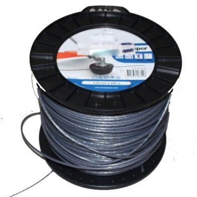 Fio Nylon 2,7mm Cinza Flexiblade Aprox 250m