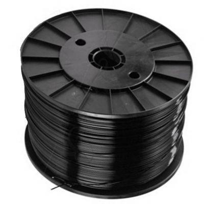 Fio Nylon 2,65mm Cinza Preto Torcido Aprox 342m