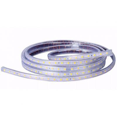 Fita Led 12mm 220v Smd 5050 14.4w/m 2 Fios Branco Frio Lumanti