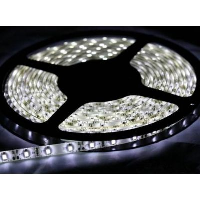 Fita Led 10mm 12v Ip65 Smd5050 c/ 60 Leds 14.4 W/m Branco Frio Lumanti