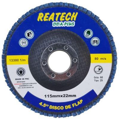 Flap Disc Fibra Curvo 41/2 60 Reatech