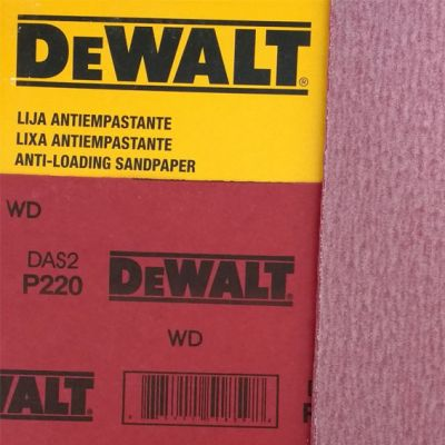 Lixa Madeira Seco Antiempastante G100 Verm Dewalt