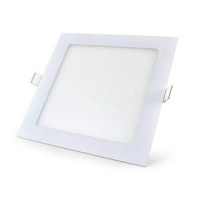 Luminaria de Embutir Quad Slim Led 18w 3000k 225x225 - Lumanti