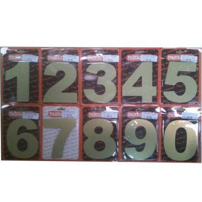 Numero Resid. Acm Dourado Escovado Nr4