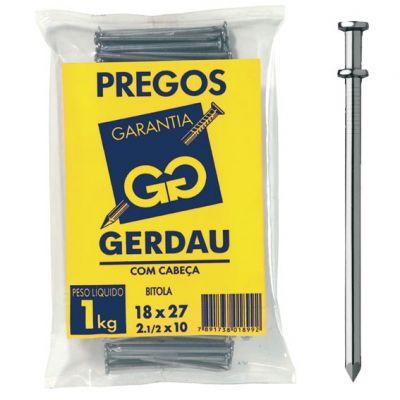 Prego 17x27 Cabeça Dupla Gerdau