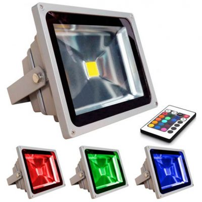 Refletor Led 10w Rgb c/ Controle xl Power