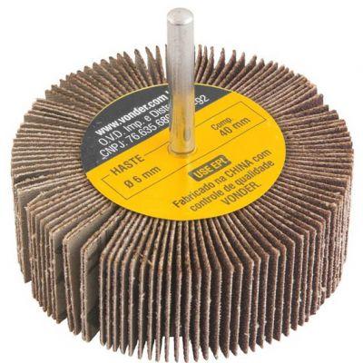 Roda de Lixa 50x20mm c/ Haste jg 3pc