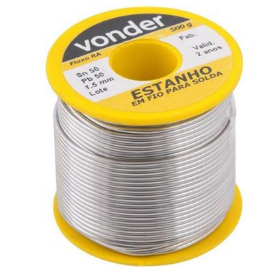 Solda Estanho 0,5kg 40x60 1,5mm Worker/vonder